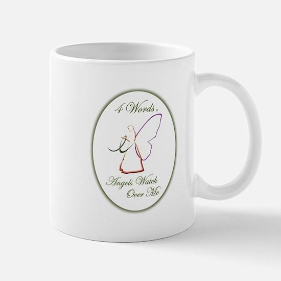 4 Words - Angels Watch Over Me - Liver Cancer Mug