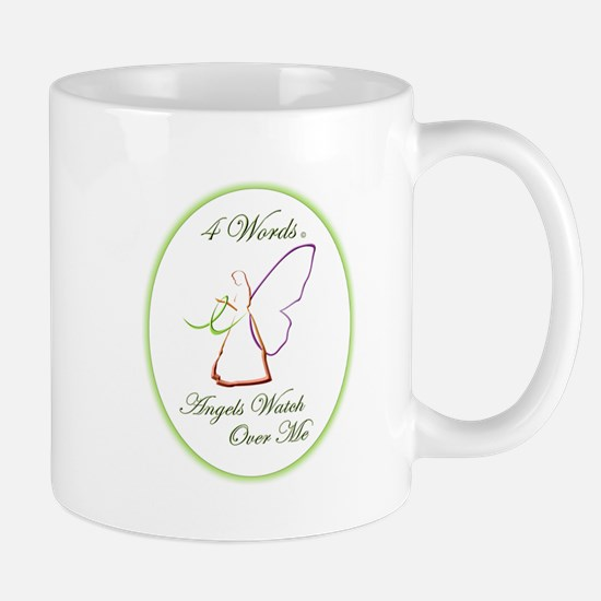 4 Words - Angels Watch Over Me - Lymphona Mug