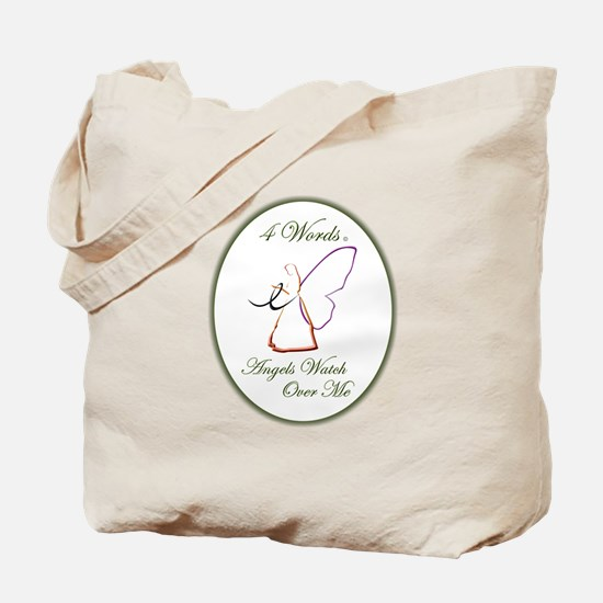4 Words - Angels Watch Over Me - Melanoma Tote Bag