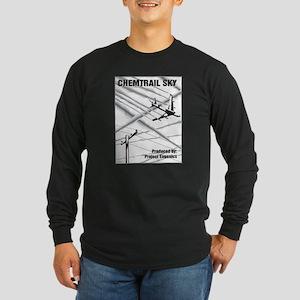 Chemtrail Sky Long Sleeve Dark T-Shirt