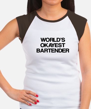 World's Okayest Bartender Women's Cap Sleeve T-Shi