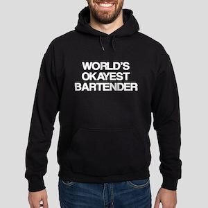 World's Okayest Bartender Hoodie (dark)