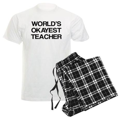 World's Okayest Teacher Men's Light Pajamas