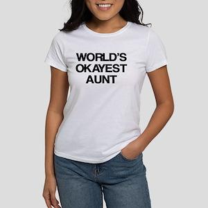 World's Okayest Aunt Women's T-Shirt