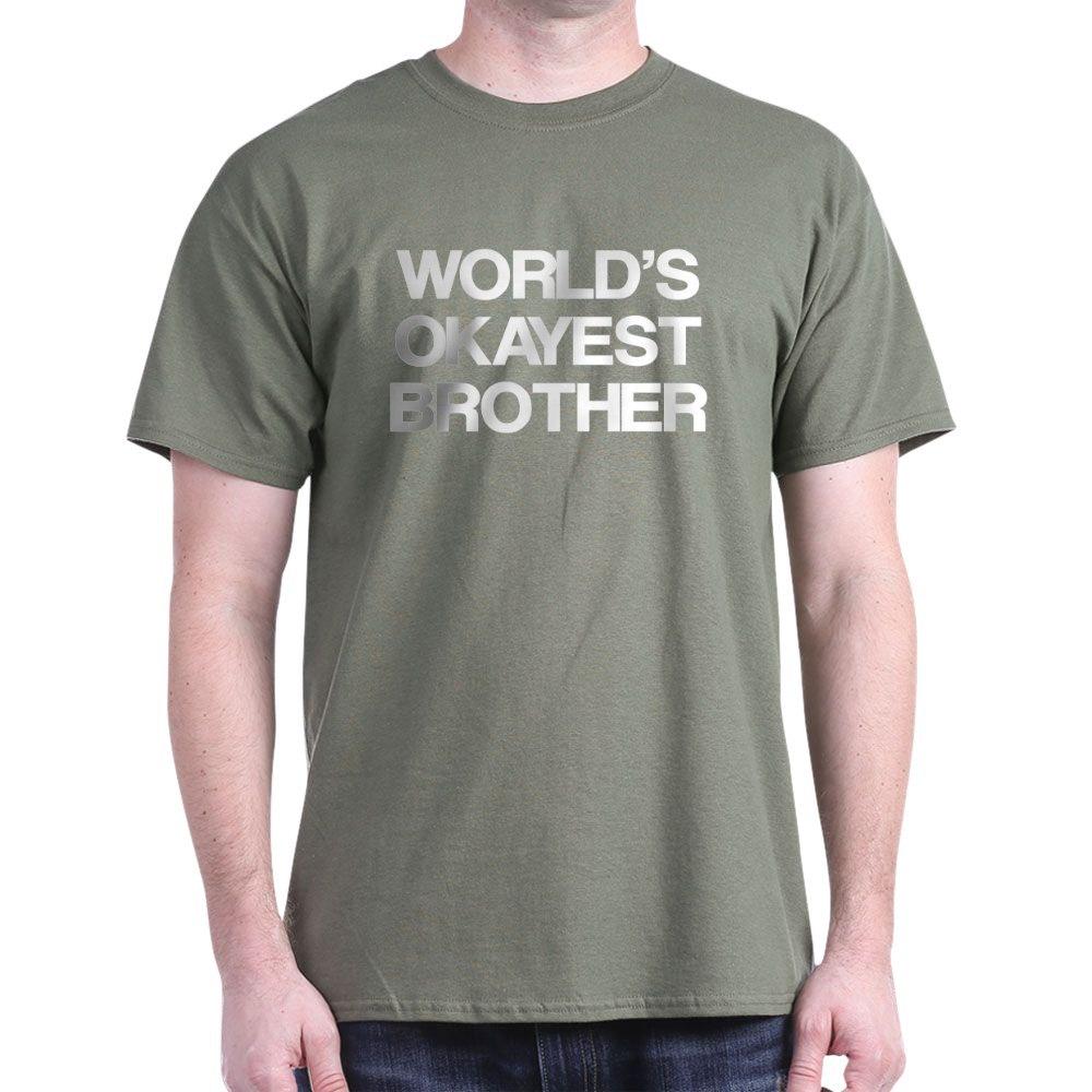 e51b3b0a5e13 CafePress World Okayest Brother Dark T Shirt 100% Cotton T-Shirt ...