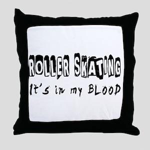 Roller Skating Designs Throw Pillow