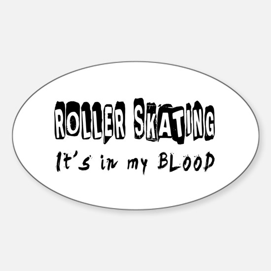 Roller Skating Designs Sticker (Oval)