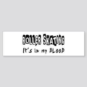 Roller Skating Designs Sticker (Bumper)