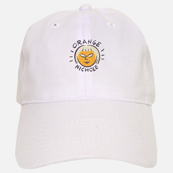 Orange Nichole Baseball Baseball Cap