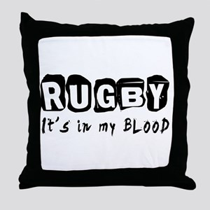 Rugby Designs Throw Pillow
