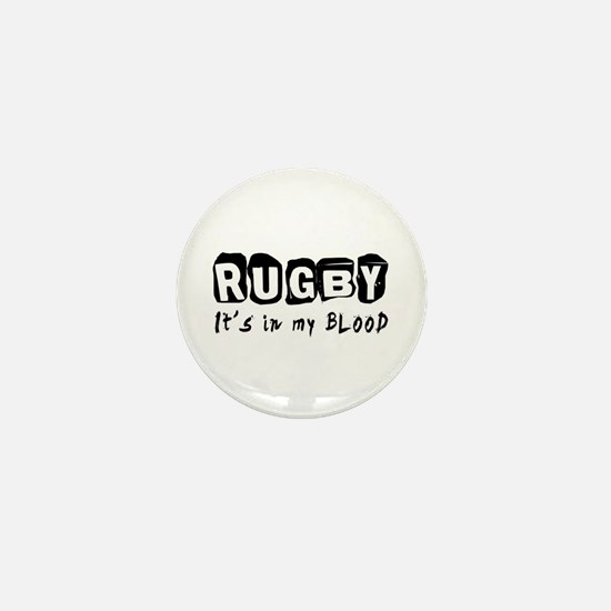 Rugby Designs Mini Button