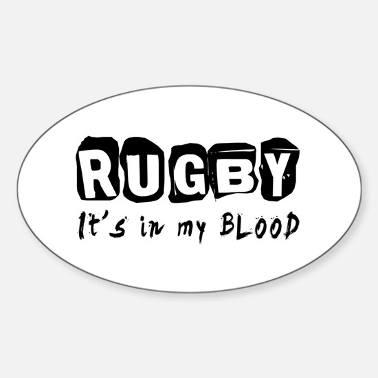 Rugby Designs Sticker (Oval)