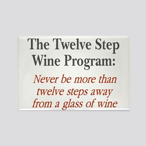 Twelve Step Wine Program Rectangle Magnet