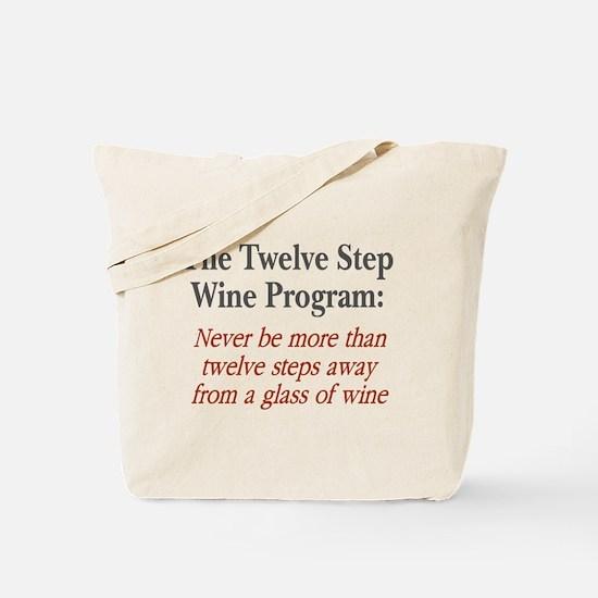 Twelve Step Wine Program Tote Bag