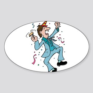 PARTY DUDE Oval Sticker
