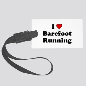 I Heart Barefoot Running Luggage Tag