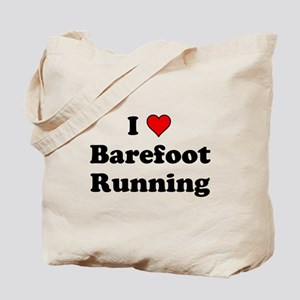 I Heart Barefoot Running Tote Bag