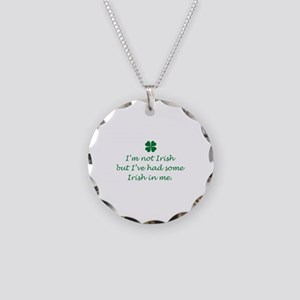 Irish In Me Necklace Circle Charm