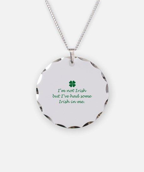 Irish In Me Necklace Circle Charm