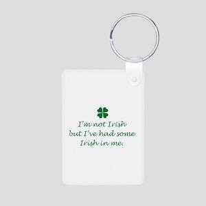 Irish In Me Aluminum Photo Keychain