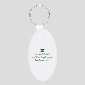 Irish In Me Aluminum Oval Keychain