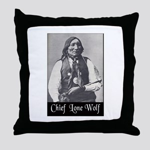 Chief Lone Wolf Throw Pillow