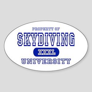 Skydiving University Oval Sticker