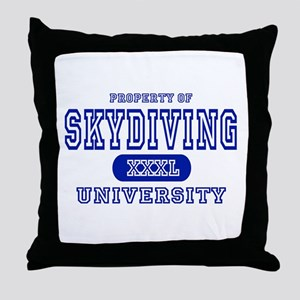 Skydiving University Throw Pillow