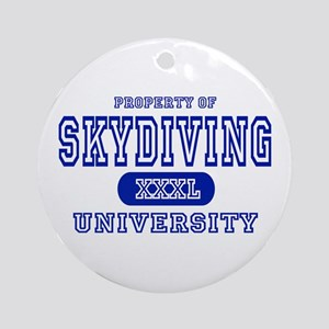 Skydiving University Ornament (Round)