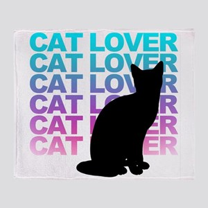 cat lover Throw Blanket