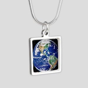 te image - Silver Square Necklace