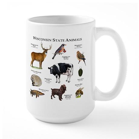 Wisconsin State Animals Large Mug