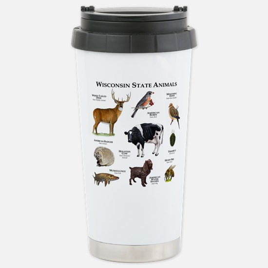 Wisconsin State Animals Stainless Steel Travel Mug