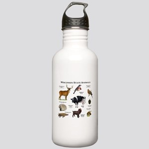 Wisconsin State Animals Stainless Water Bottle 1.0