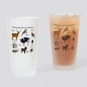 Wisconsin State Animals Drinking Glass