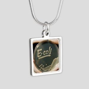 oli bacteria - Silver Square Necklace