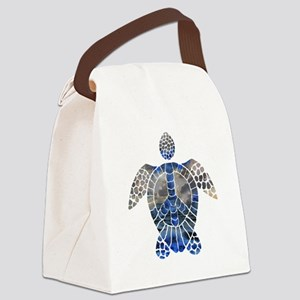 Sea Turtle Peace Canvas Lunch Bag