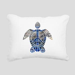 Sea Turtle Peace Rectangular Canvas Pillow