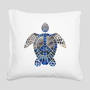 Sea Turtle Peace Square Canvas Pillow