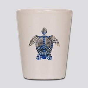 Sea Turtle Peace Shot Glass