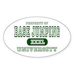 Base Jumping University Oval Sticker