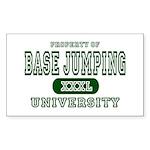 Base Jumping University Rectangle Sticker