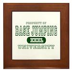 Base Jumping University Framed Tile