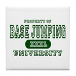 Base Jumping University Tile Coaster