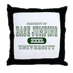 Base Jumping University Throw Pillow
