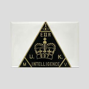 United Kingdom Intelligence Rectangle Magnet