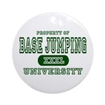 Base Jumping University Ornament (Round)