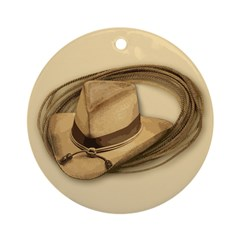 Cowboy Hat Horse Holiday Ornament (Round)
