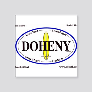 Doheny Surf Spots Oval Sticker