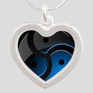 BDSM Silver Heart Necklace